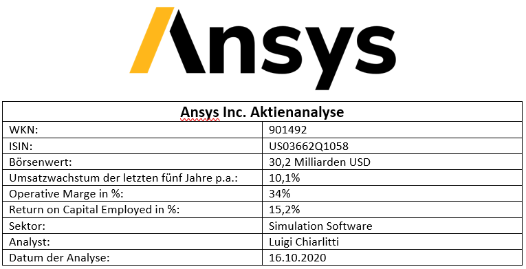Ansys Tabelle